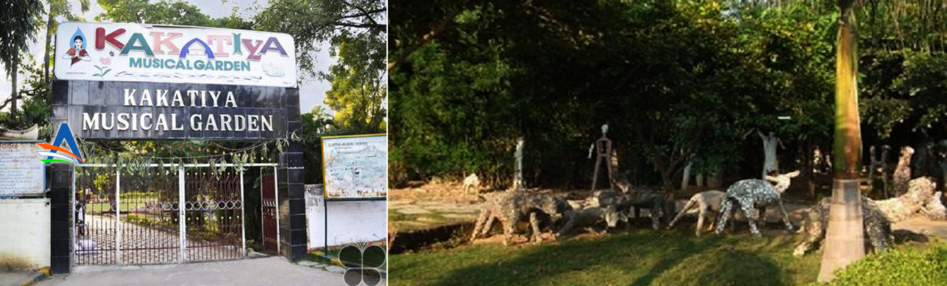 Relax in the peaceful environment of the Kakatiya Musical Garden